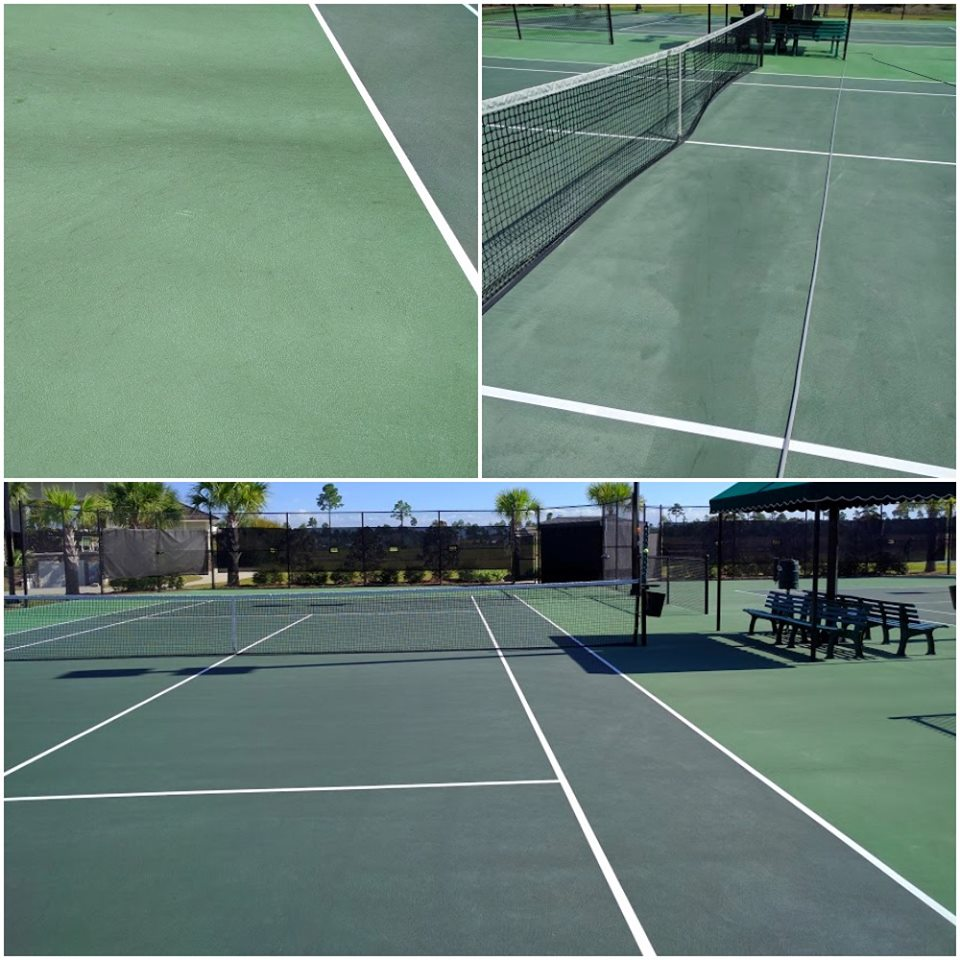 Tennis Court Washing