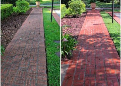 Brick Sidewalk Clean vs Dirty