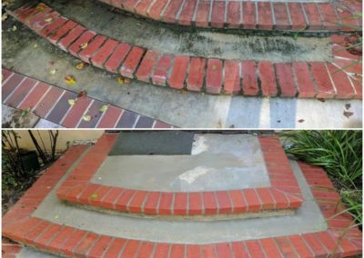 Brick and Concrete Clean vs Dirty
